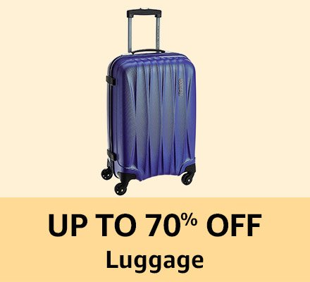 Up to 70% off Lugguage