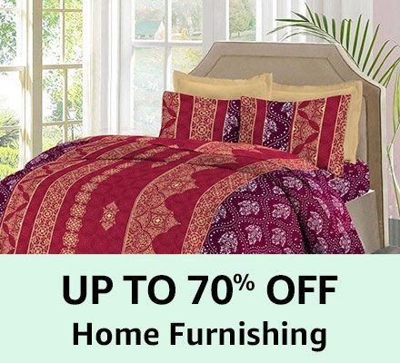 Up to 70% off Home Furnishing
