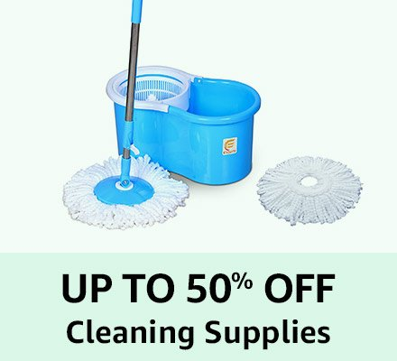 Up to 50% off Cleaning Supplies