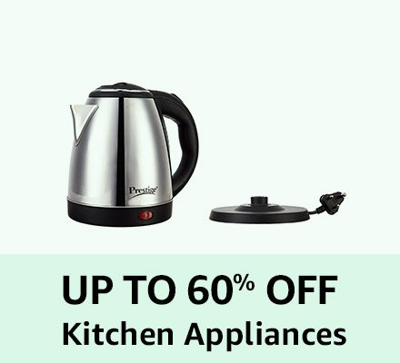 Up to 60% off Kitchen Appliances