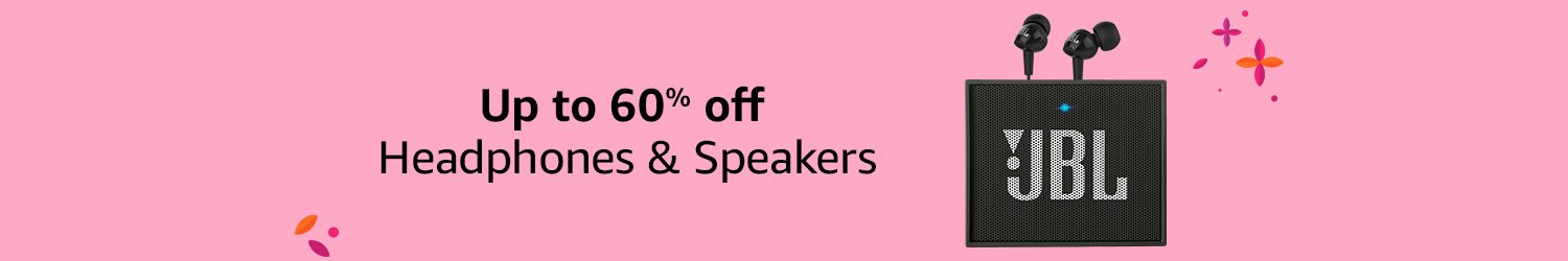 Up to 60% off Headphones & Speakers