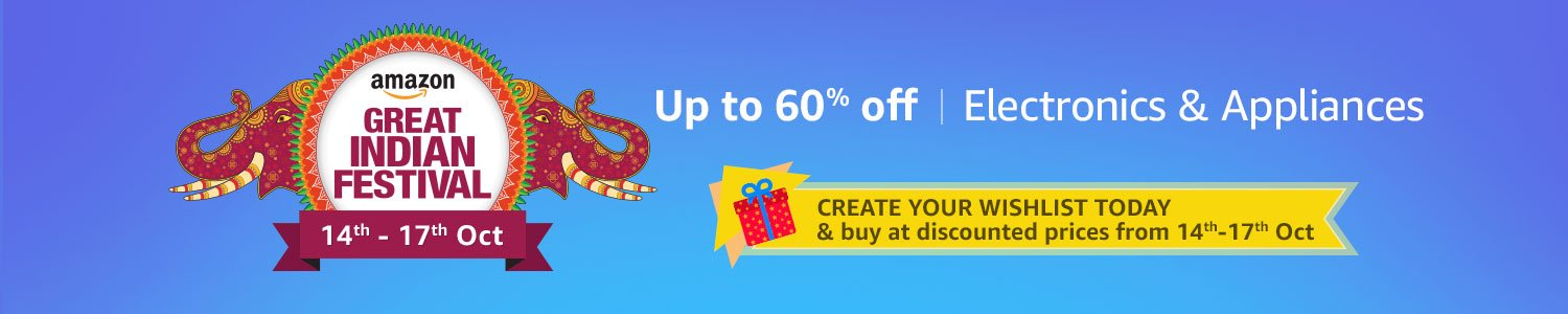 Up to 55% off on Electronics & Appliances