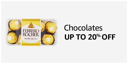 Up to 20% off Chocolates