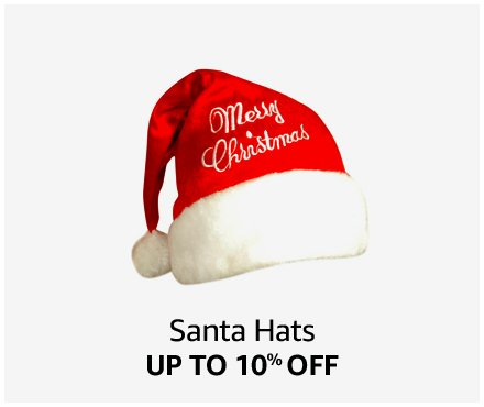 Up to 10% off Santa Hats