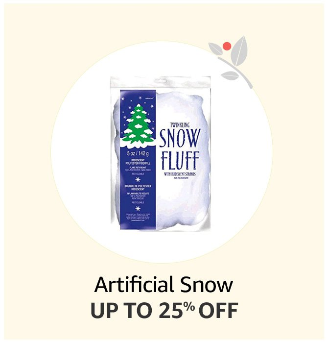 Up to 25% of Artificial Snow