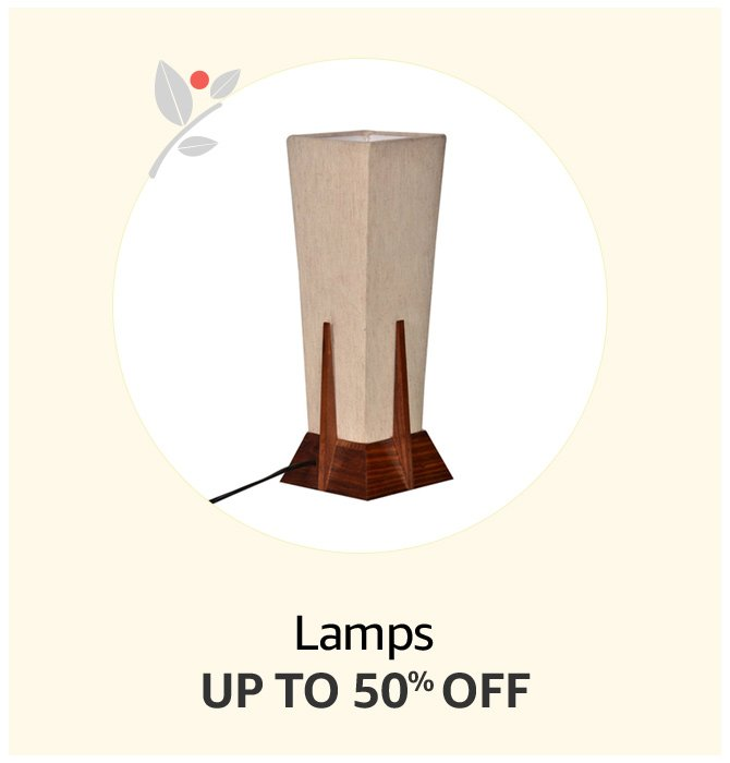Up to 50% off Lamps