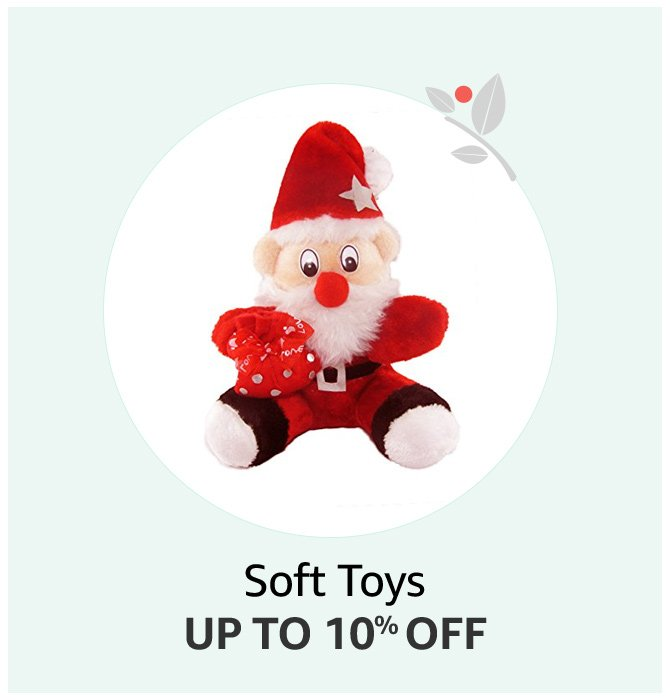 Santa Soft Toys Up to 10% off