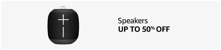 Up to 50% off Speakers