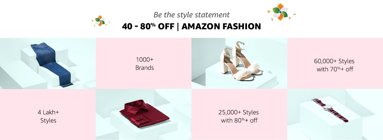 40-80% off Amazon Fashion