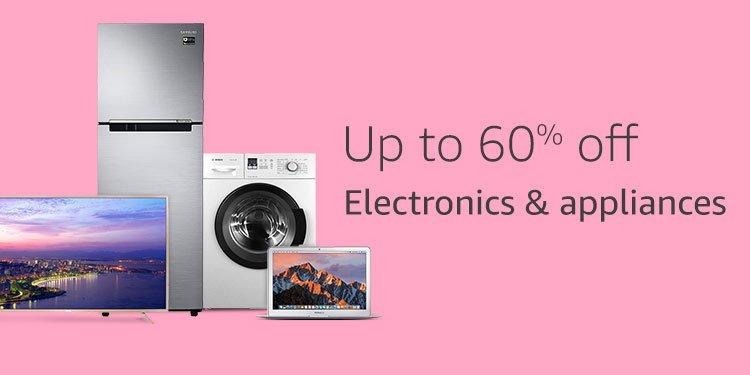 Up to 60% Electronics & appliances