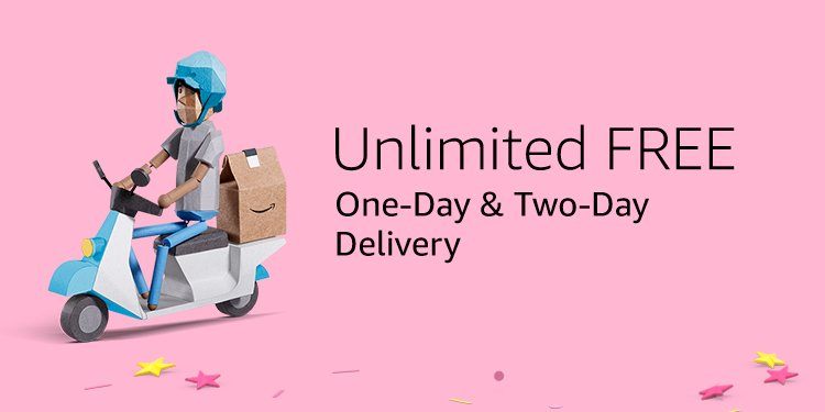 Unlimited FREE one-day & two-day delivery
