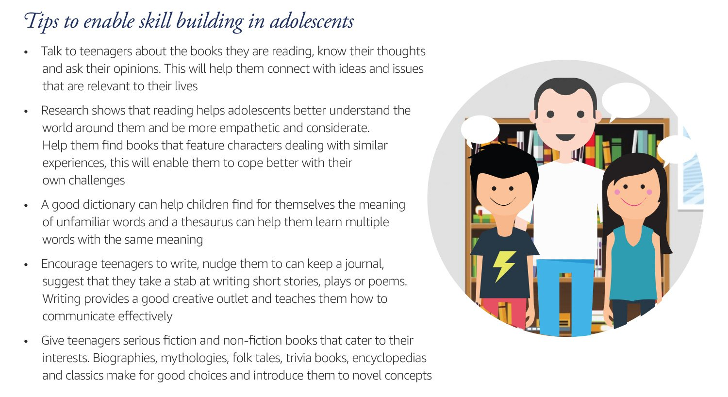 Tips to enable skill building in adolescents