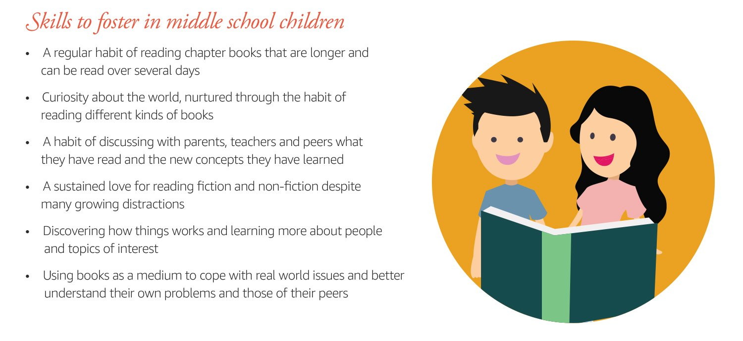 Skills to foster in middle school children