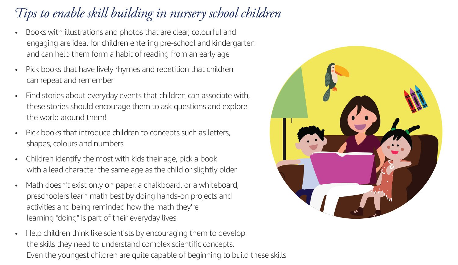 Tips to enable skill building in nursery school children