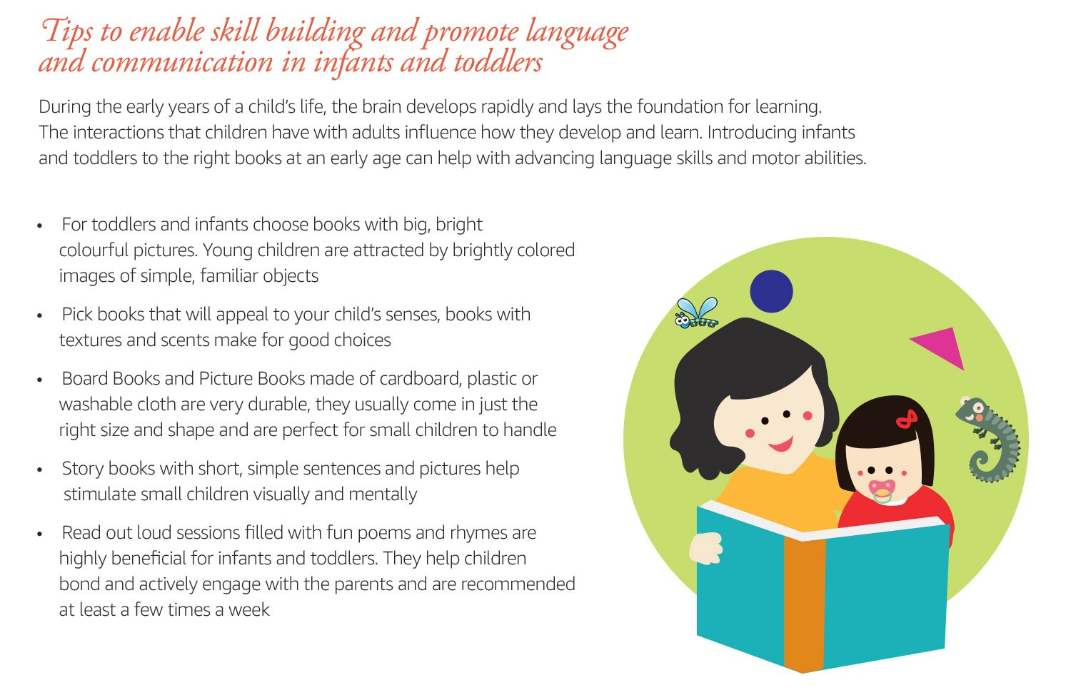 Skills to foster in infants and toddlers