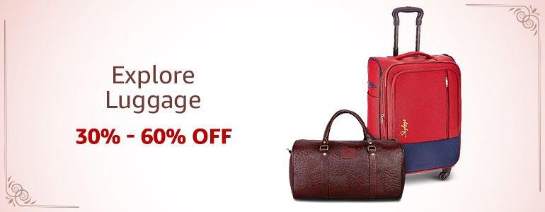 Luggage: 30%-60% off