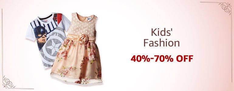 Kid's Fashion:40%-70% off