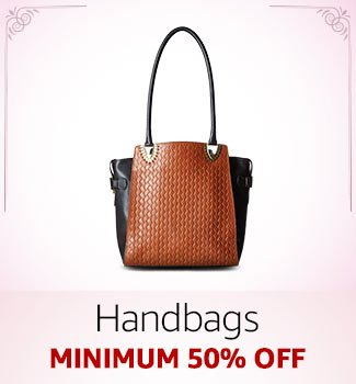 Handbags Minimum 50% off