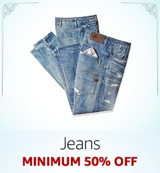 Men's Jeans Minimum 50% off