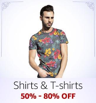 Shirts & T-shirts 50%-80% off