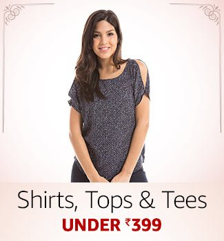Shirts, top & tees Under Rs.399
