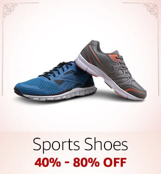 Sports Shoes: 40%-80% off