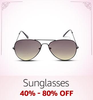 Sunglasses: 40%-80% off