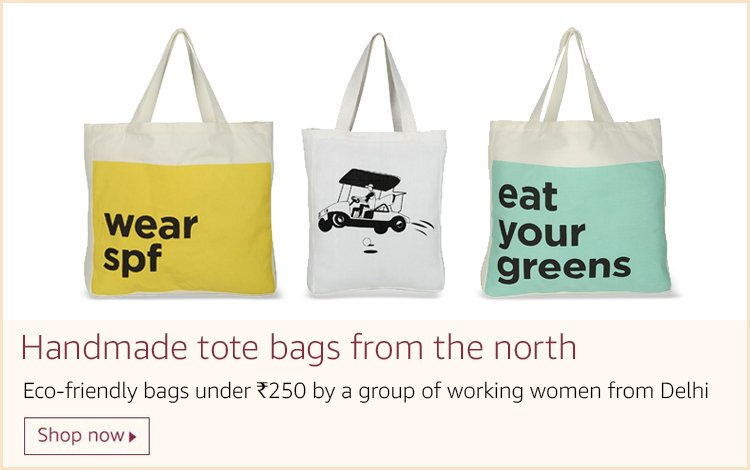 Handmade tote bags from the north