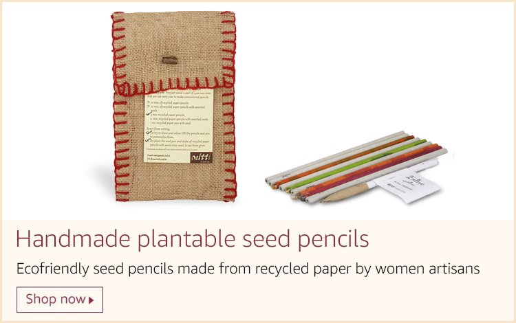 Handmade recycled plantable pencils