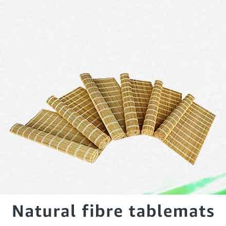 Natural fibre tablemats