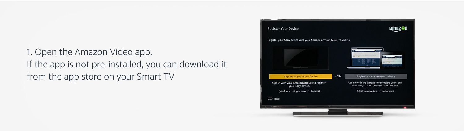 Link your Smart TV to Prime Video @ Amazon in