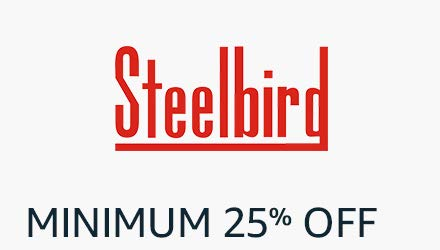 flat 25% off steelbird