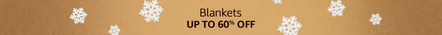 balnkets Up to 60% off