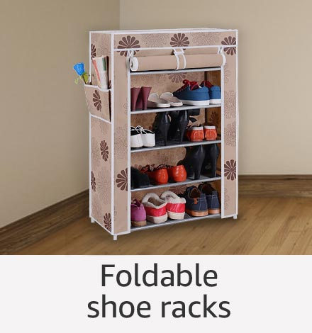 Foldable shoe racks