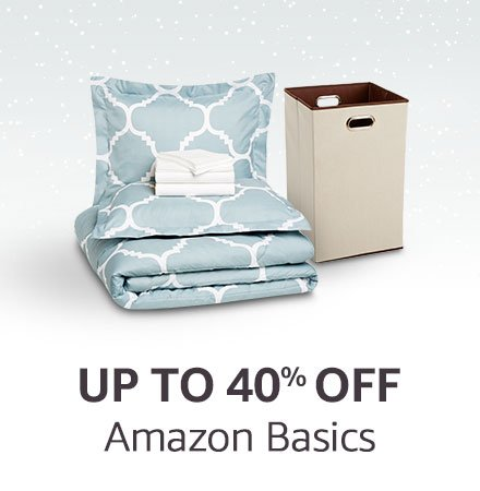 up to 40% off Amazon Basics