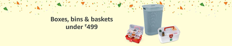 Boxes, baskets & bins under 499