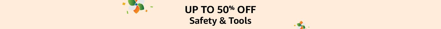 Upto 50% off Safety & Tools