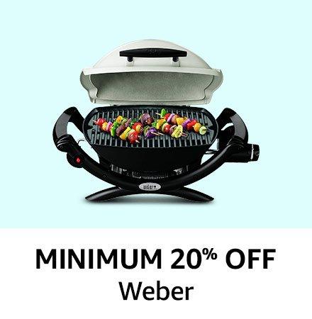 Minimum 20% off Weber