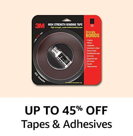 Upto 45% off Tapes & adhesives