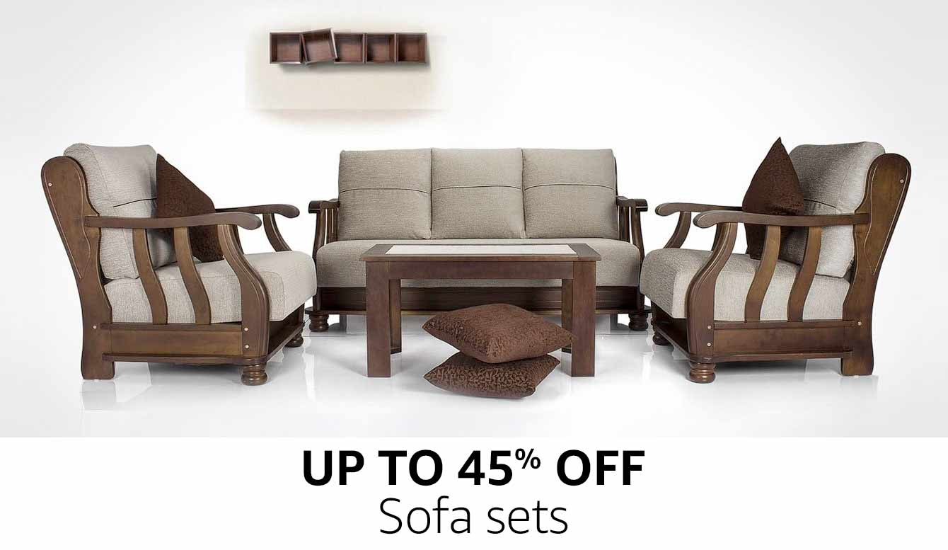 Sofas buy sofas couches online at best prices in india for Furniture 3 rooms for 1999