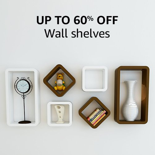 Up to 60% off | Wall shelves