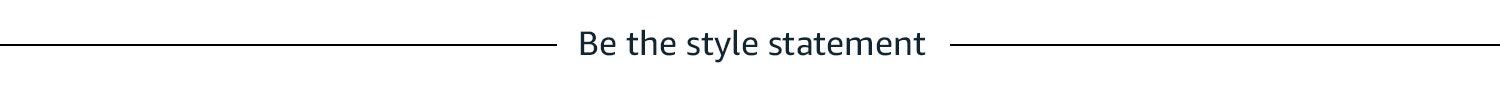Be the style statement