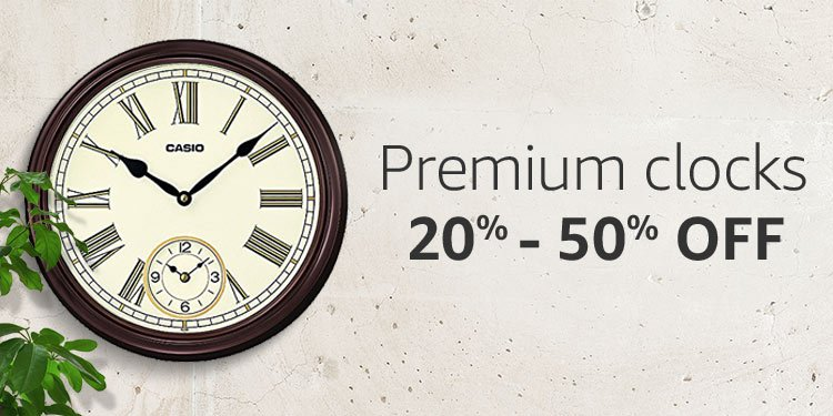 Premium Clock | 20% 50% Off · Home Summer Store