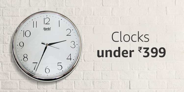 Clocks under Rs.399