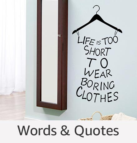 Words & Quotes Wall Stickers