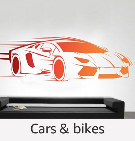 Cars & bikes Wall Stickers