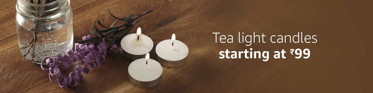 Tea light candles starting at Rs.99