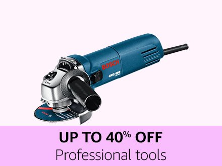 Up to 40% off Professional tools