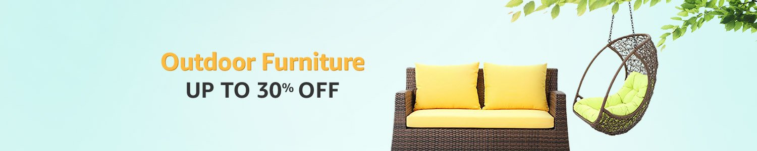 Outdoor furniture up to 30% off