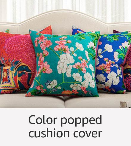 Color popped cushion cover